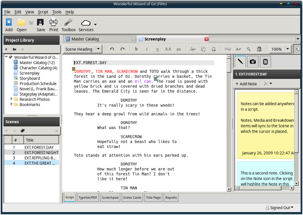 Screenwriting Application Celtx is Back as a Snap